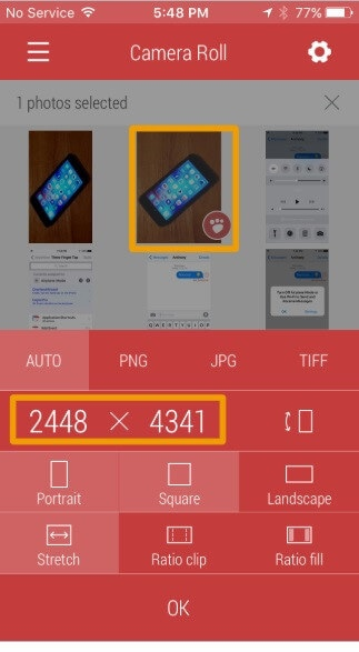 shrink photo iPhone