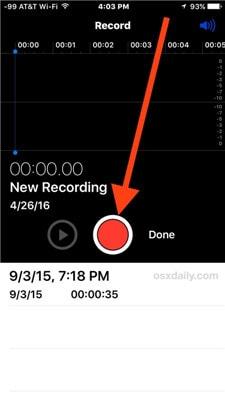 start the recording