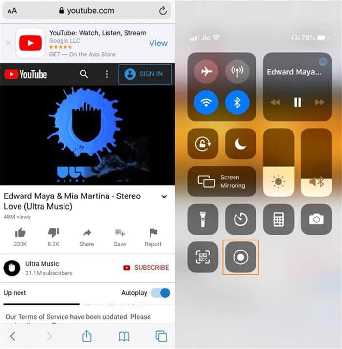 record youtube video on iphone