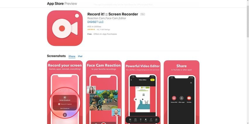 how to record on iphone