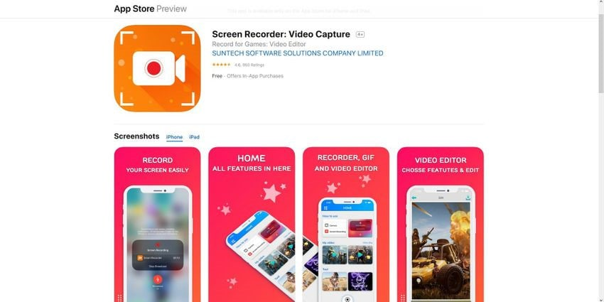 Top 15 iOS Apps to Screen Record on iPhone XR/X/8/7/6 You Can't Miss