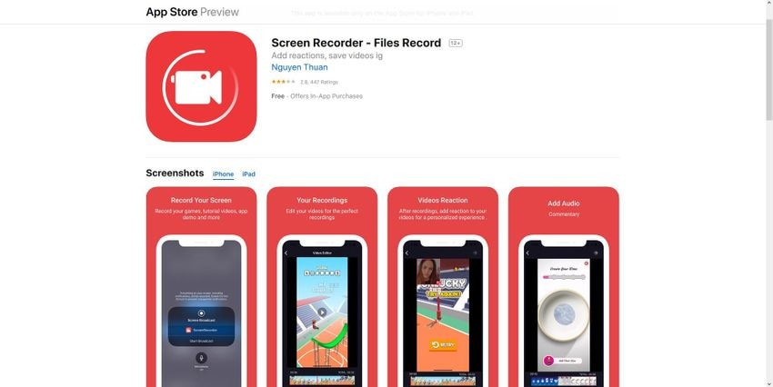 how to screen record on iphone 8