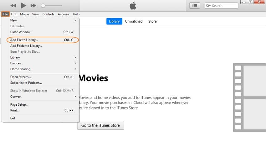 add videos to iTunes - step 1
