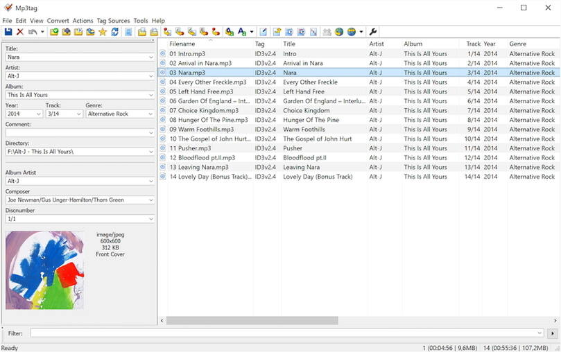 MP3tag - add metadata to M4V