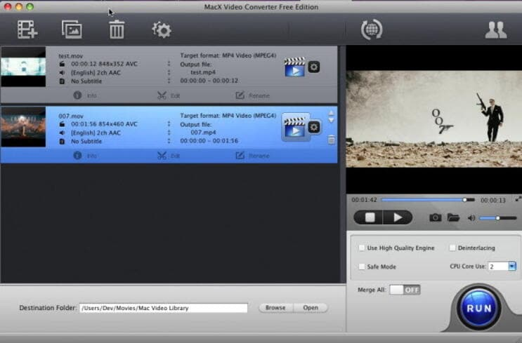 free AVI converters Mac - MacX Video Converter Free Edition