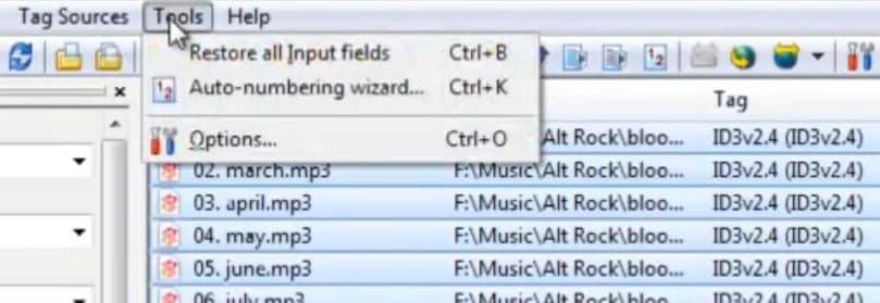 edit audio tag
