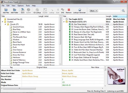 flac tag editor with PiCard