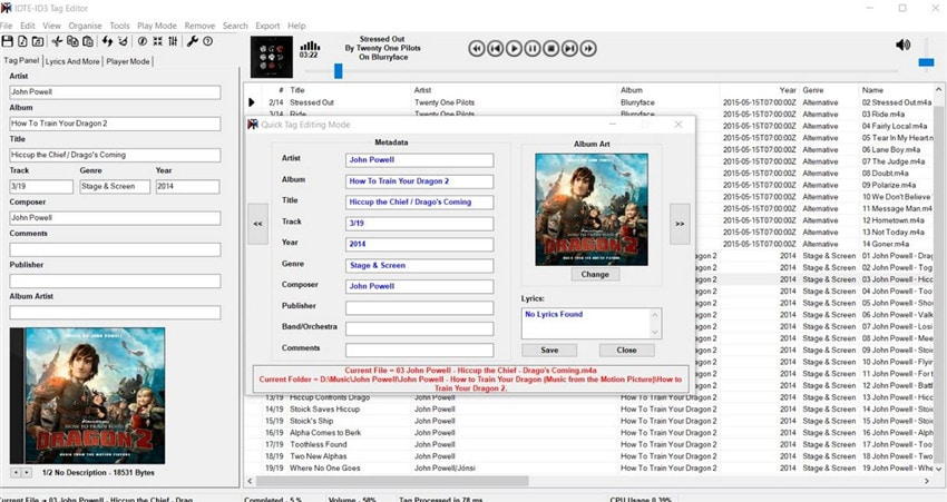 id3 music tag editor