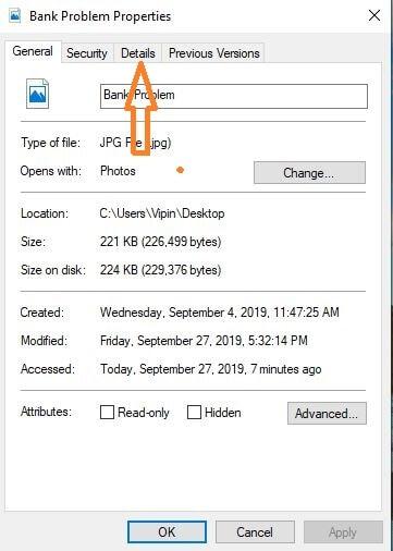 edit details on windows metadata editor
