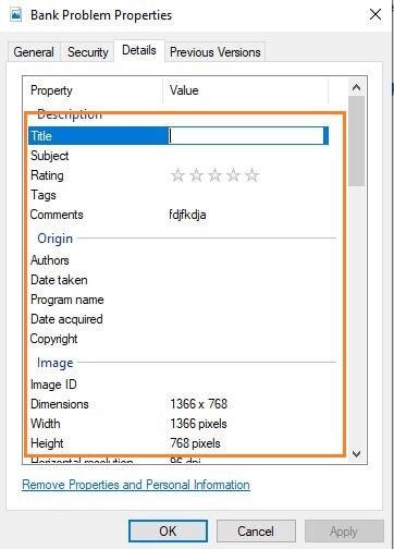 save details on metadata editor