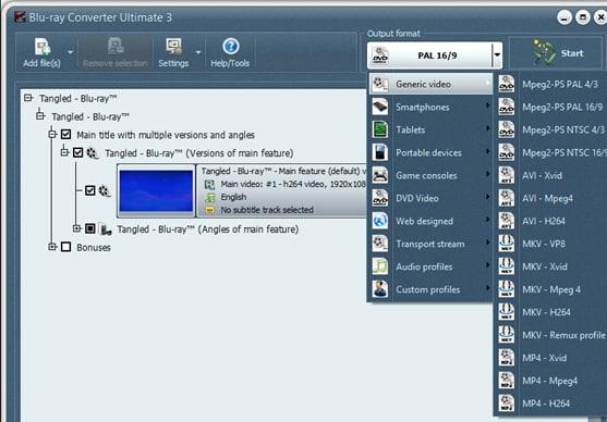convert Blu-ray ISO to MKV by VSO Blu-ray to MKV