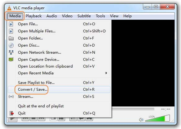 Access VLC media player