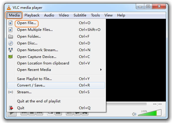 play mkv video with vlc