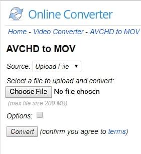 avchd to mov online converter