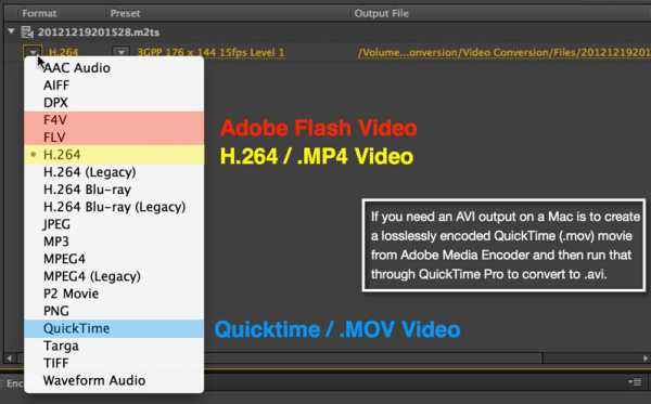 Convert FLV to MOV with Adobe Media Encoder