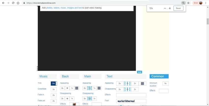 editar MOV online - Movie Maker Online