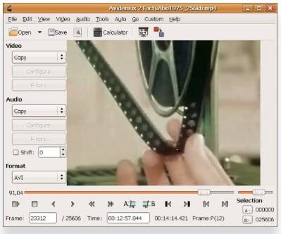 editor MOV gratuito - Avidemux