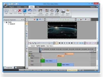 editor MOV grátis - VSDC Free Video Editor