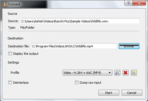 mov to avi converter free VLC