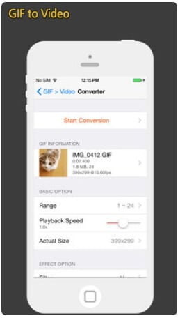 convert gif to mov iphone