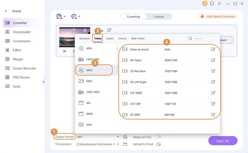Comenzar a reducir el tamaño de los archivos QuickTime MOV - haga a MOV más pequeño