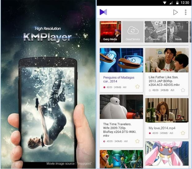MOV player for Android - KMplayer