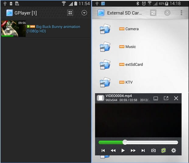 MOV player for Android - GPlayer