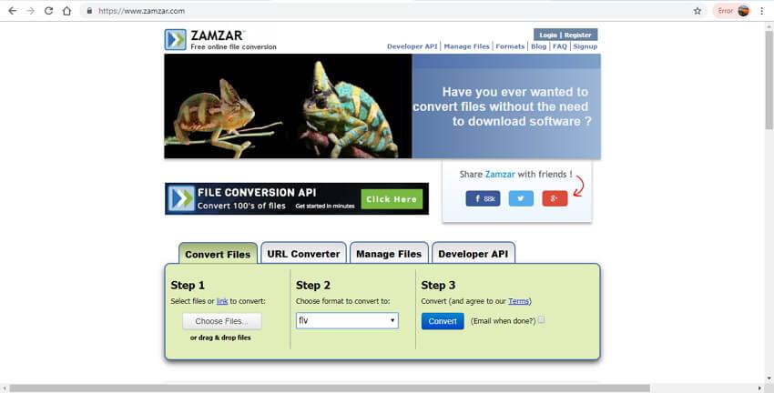 online mov to flv converter - Zamzar