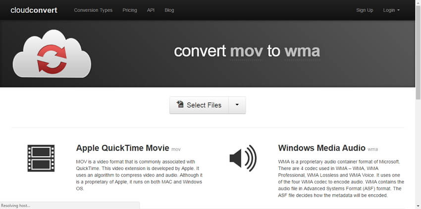 Free MOV to WMA Converter