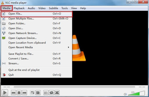 open VLC to play MOV videos