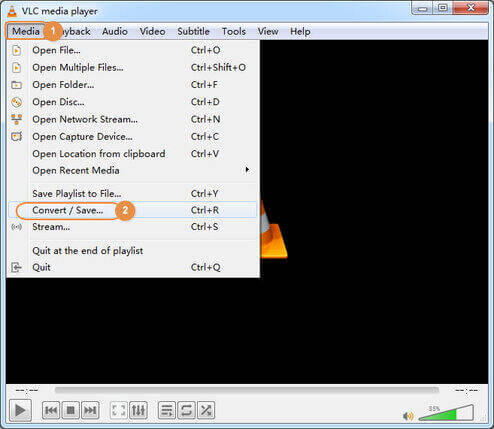 open VLC for free MOV to MP4 conversion