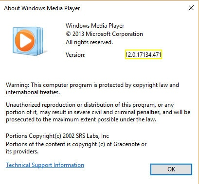 Versão do Windows Media Player para reproduzir arquivos .mov