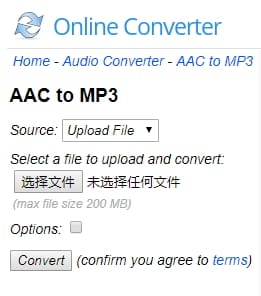 aac to mp3 converter online