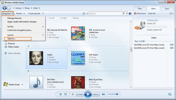 convert mp3 to wav-get options windows