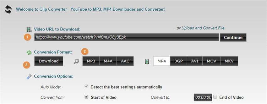 Clipconverter MOV converter