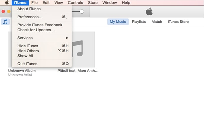 click itunes preference