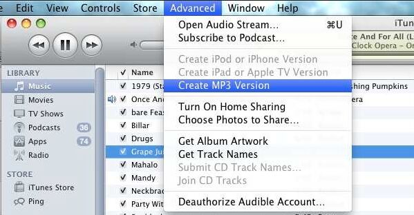 start convert midi to mp3 by itunes