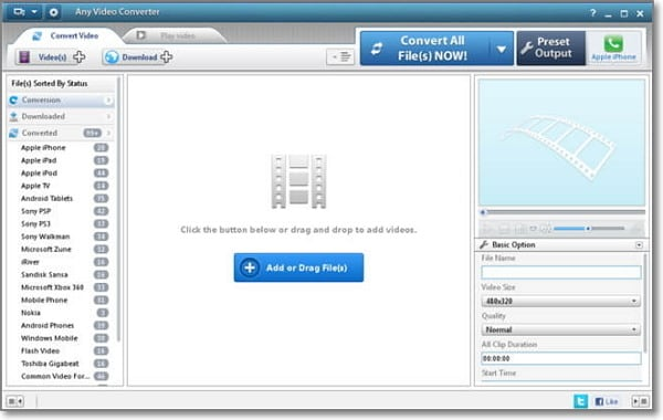 convert MP3 to AAC Online-Any Audio Converter