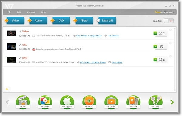convert MP3 to AAC Online-Freemake