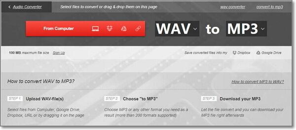 convert wav to mp3 free-convertio