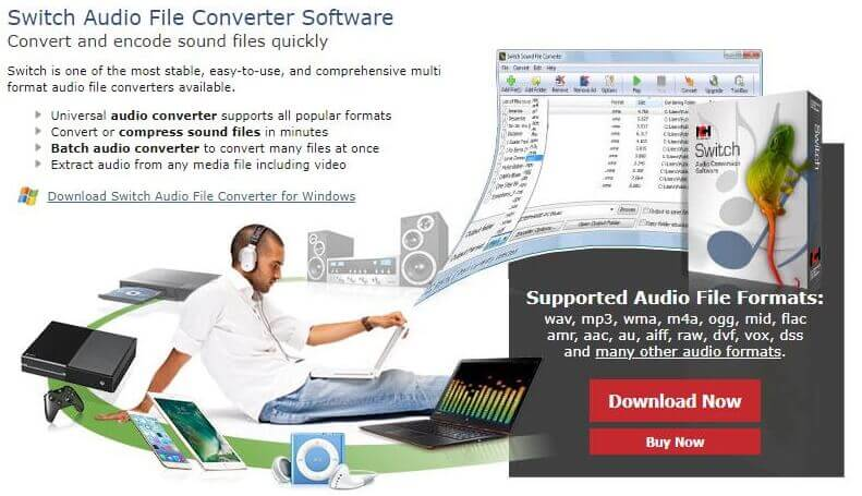 Install the 3rd party audio converter Switch