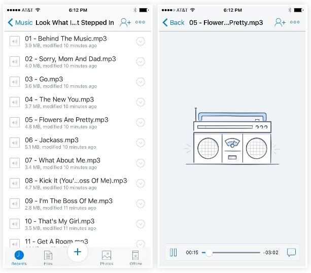 Convert MP3 with Dropbox