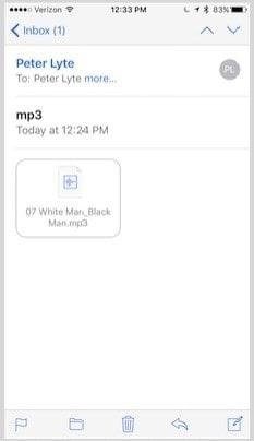 Transférer des fichiers MP3 par e-mail