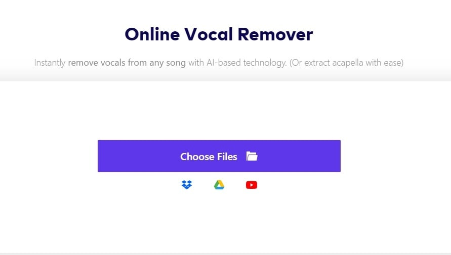 remove mp3 vocal-import song to online uniconverter
