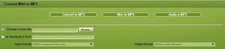 mp3 para m4a online
