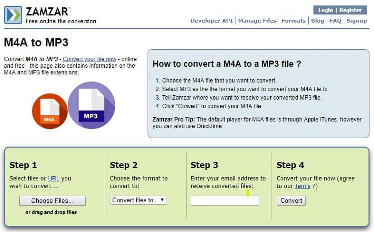 Convertisseur m4a en mp3 gratuit en ligne