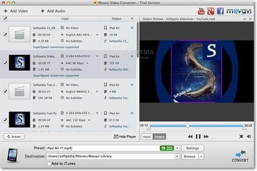 Movavi Video Converter as an MP3 converter on Mac