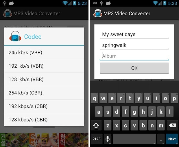 mp3 video converter for android