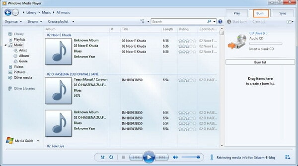 convert mp3 to wav-open windows media player