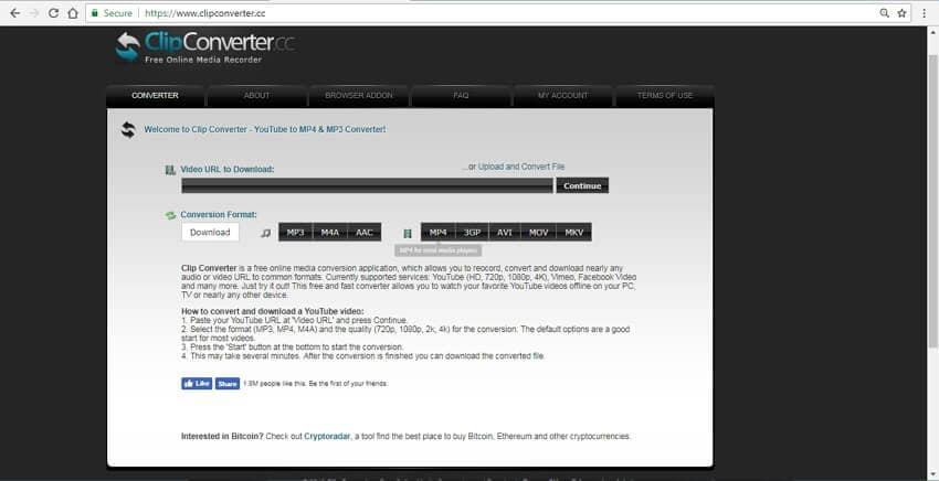 url to mp4 converter online ClipConverter